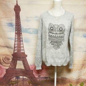 Cato Owl popcorn texture sweater